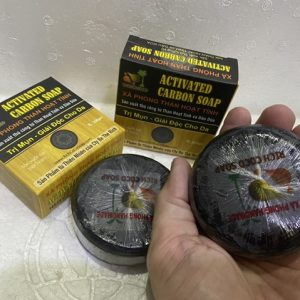 Xa Phong Than hoat tinh, than hoat tinh khu mui, mat na than hoat tinh, bot than hoat tinh, Activated carbon -xa bong tam - rich activated carbon soap - handmade soap 1